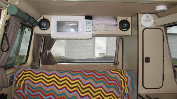 microwave in vanagon