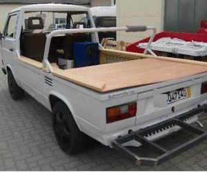 VW Doka with bed removed