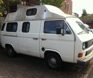 High top camper with small side windows