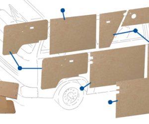 Vanagon door trims and panels kit