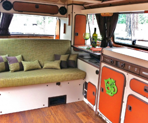 Beautiful custom designed Vanagon interior