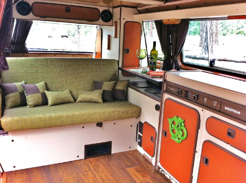 Beautiful custom designed vanagon interior vanagon hacks for Interior westfalia
