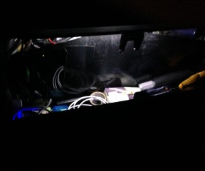 Adding LED lights to the Vanagon glovebox