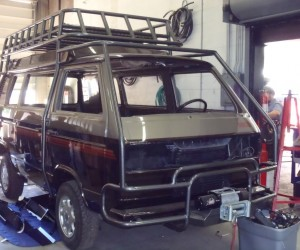 Synchro roof rack and roll bars
