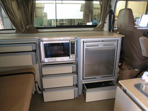 custom cabinet drawers  microwave  trim kit vanagon hacks mods vanagonhackscom