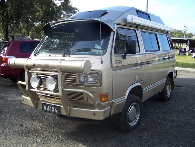 Syncro camper with a serious front grill guard | Vanagon ...