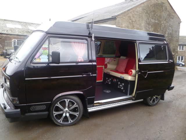 Gorgeous Black T25 Pop Top With Custom Interior Vanagon