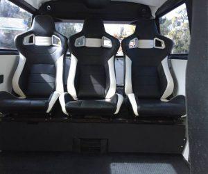 Rear bucket seats
