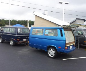 What do you do with an extra Vanagon?  Make a trailer!