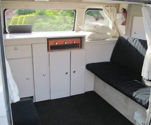 1983 T25 with custom white interior cabinets