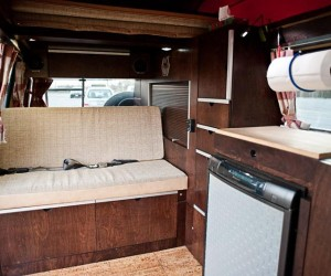 Custom cherry wood Vanagon interior