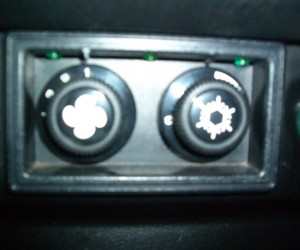 Dash Lights for the A/C Controls