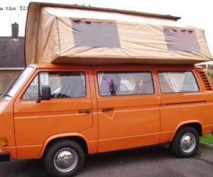 Clam-top camper