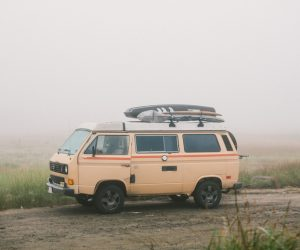 A striped Vanagon for the great outdoors