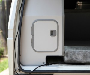 Rear cubby door mod