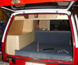 Custom interior cabinets for the Vanagon