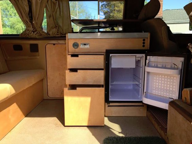 Custom Kitchen Cabinets in a Weekender | Vanagon Hacks ...