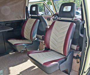 Custom seat covers look like upholstery