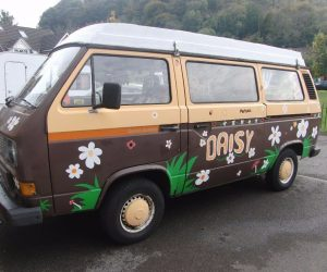Hand painted Vanagon Daisy
