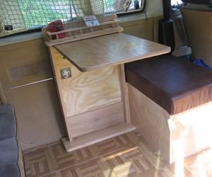 Custom table and bench for the Vanagon