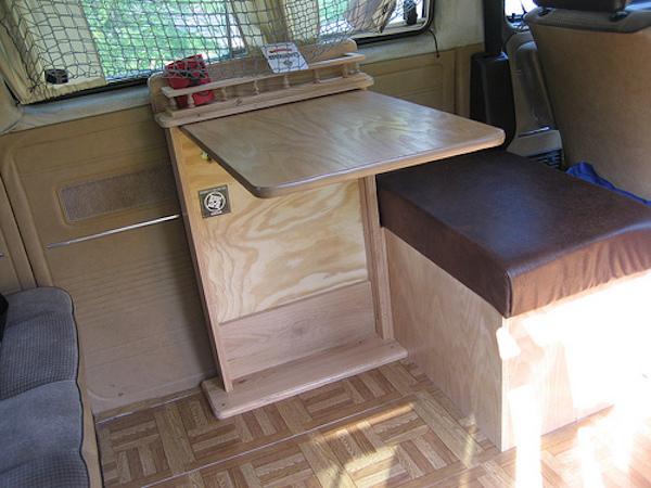 Custom table and bench for the Vanagon | Vanagon Hacks & Mods – VanagonHacks.com
