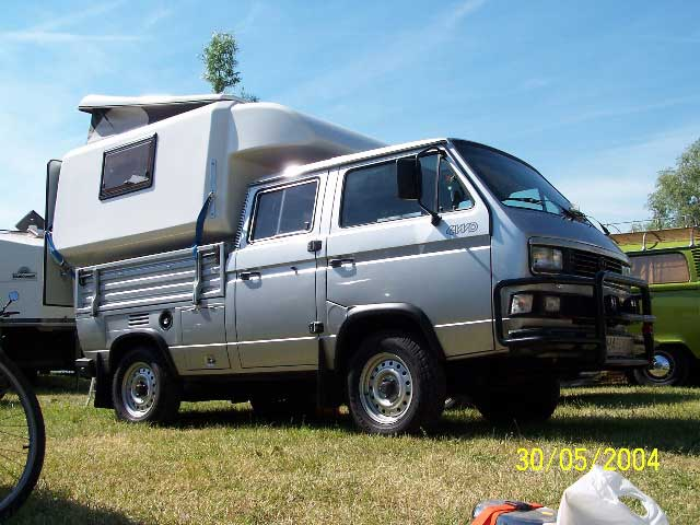 vw t3 double cab syncro with rear pop top camper vanagon. Black Bedroom Furniture Sets. Home Design Ideas