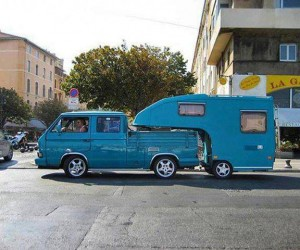 A Vanagon double cab truck to die for