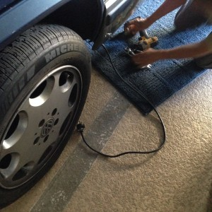 Installing a retractable charging cable in the Vanagon