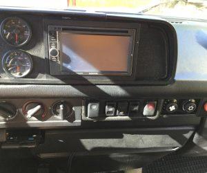 Custom fabricated dash