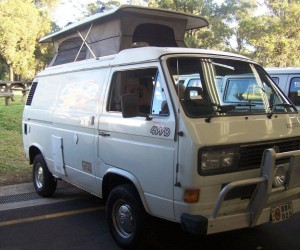 Syncro camper with serious front bumper