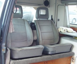 Front seats as back seats mod