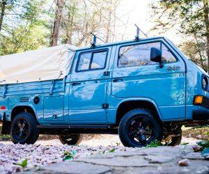 Glorious Light Blue Syncro Doka Double Cab Truck