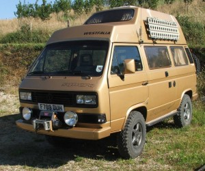 Expedition ready 1990 Vanagon Syncro in Gold