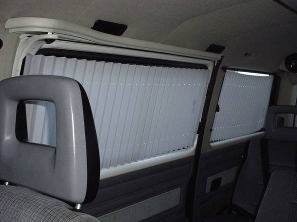 If You Don T Like The Look Of Curtains But Want To Block Out Sunlight Gowesty S A Complete Shade Kit For Non Camper Vanagons With Little Velcro
