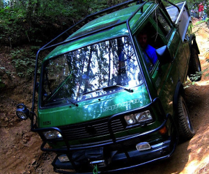 Off-roading with a Synchro Double Cab