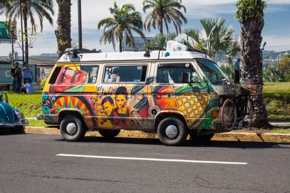 Hand painted Vanagon from El Salvador