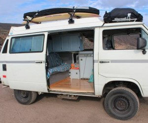 Hanging cupboards in a Vanagon Westy