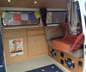 1981 air cooled VW T25 with homey interior