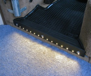 Step protector with LED lights