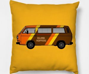 Island Hoppers Vanagon Pillow