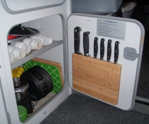 Vanagon kitchen knife storage