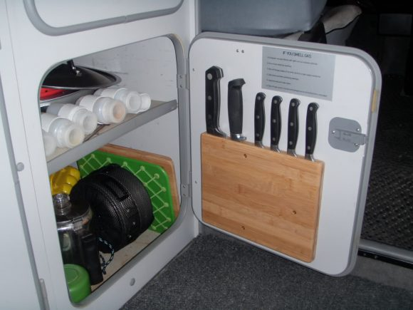 Vanagon kitchen knife storage