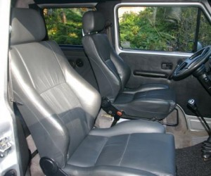 VW Truck leather interior