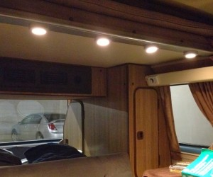 LED ceiling lights in the Vanagon