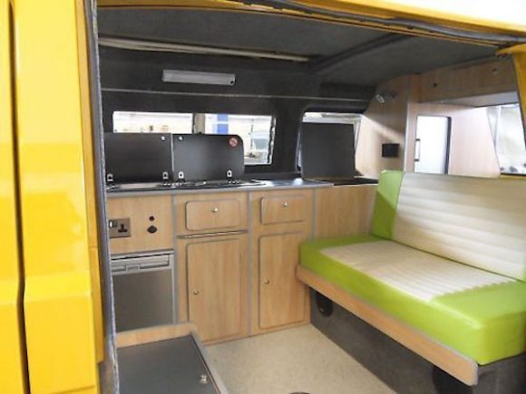 How Can A Lime Green Interior Be Gorgeous I Don T Know But It Is This T25 Camper Another Former That Took Place On Ebay