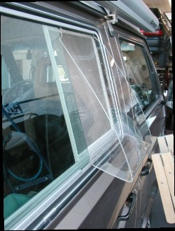 Custom made Vanagon rain deflector