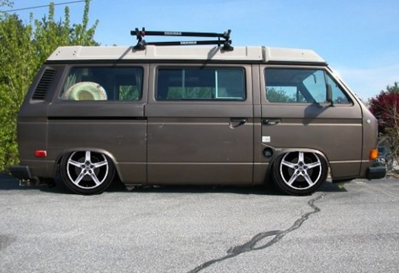 lowered-brown-vanagon