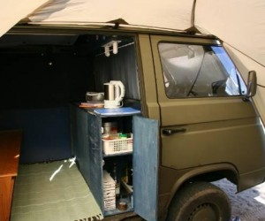 Homemade Vanagon cabinets