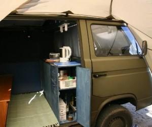 Homemade Vanagon cabinets