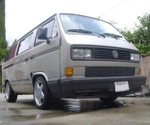 Mercedes wheels on the Vanagon